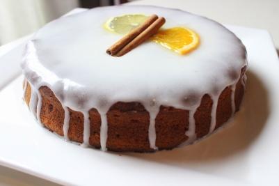 Caketaart met honing, citroen, gember en kaneel!
