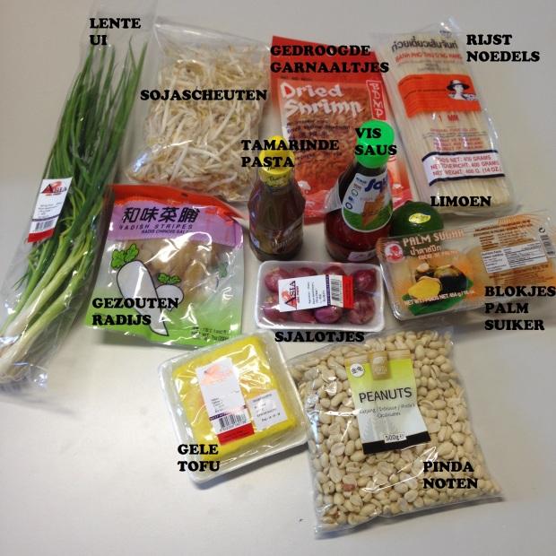 ingrediënten pad thai